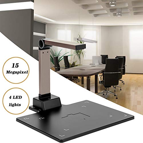 Lowest Price! EnweLampi 15MP High-Definition USB Document Camera, Portable Scanners for Documents wi...