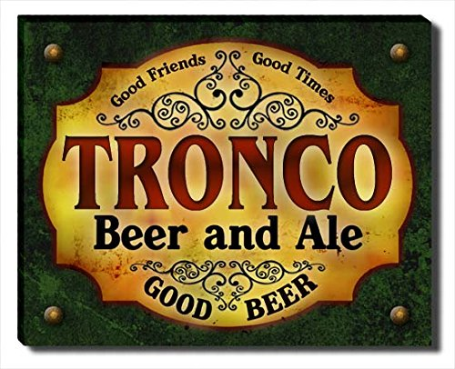 Tronco Beer and Ale Gallery Wrapped Canvas Print