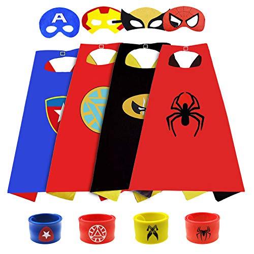 SUPRBIRD Disfraces de Superhéroes Capas de Superhéroes para Niños Capa y Máscaras de Superhéroe...