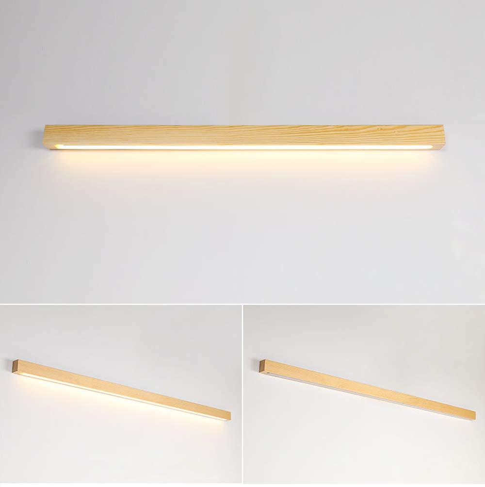 WVIVW LED Apliques de Pared Largo Interior Madera Acrílico Bar Luminoso Lámpara de Pared Plafones Lámpara de Espejo Luz del Gabinete para Gabinete Pasillo, Escalera, Cocina Luz Calida,80cm: Amazon.es: Iluminación
