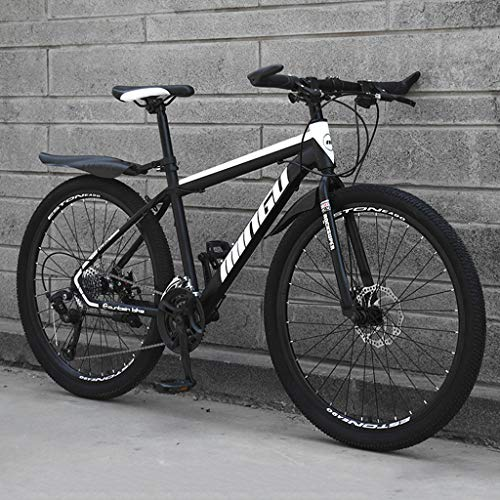Unbekannt Mountainbike Fahrrad 27 Speed MTB 26 Zoll Dämpfung Suspension Bike,Black White