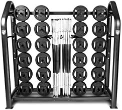 American Barbell Club Strength Rack Package - 20 User Urethane Club Strength Pack with Storage Rack for Cardio Pump, Cardio Strength, Group Fitness