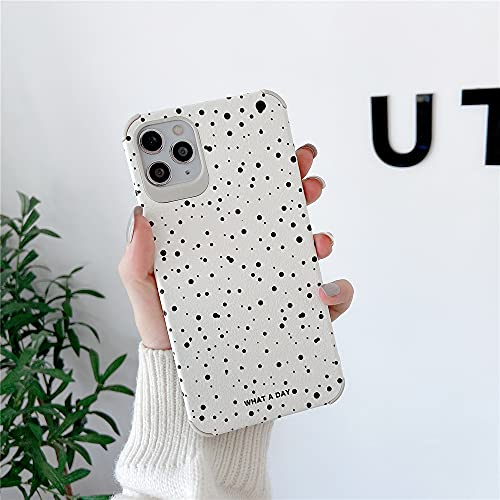 Cute Spot Half-Wrapped PU Leather Phone Case for Apple iPhone 11 Pro Max Soft Silicone Cover High Protective Best Feeling Cover for iPhone 11 Pro Max