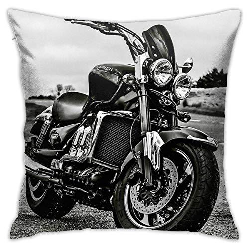 Triumph Motorrad-Kissenbezug, dekorativer Kissenbezug für Sofa, Schlafzimmer, 45,7 x 45,7 cm