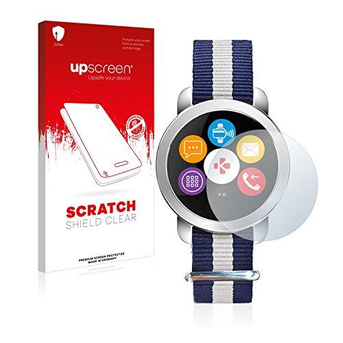 upscreen Schutzfolie kompatibel mit MyKronoz ZeCircle 2 Premium – Kristallklar, Kratzschutz, Anti-Fingerprint
