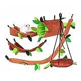 MICOKA - Juego de 5 hamacas para hámster con diseño de animales pequeños, para colgar en la cama, jaula de casas, Usado para el deslizador de azúcar, ardilla o hámster jugando a dormir tocar