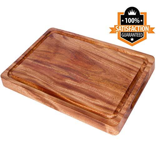 MAHOGANY Wood Cutting Board (17.5 x 11.8 x 1.1 Inch)   Large...