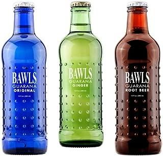 BAWLS Guarana Variety Pack, 3 Flavors (Original, Root Beer, Ginger Ale), 10 Oz. Bottles, (Pack of 8)