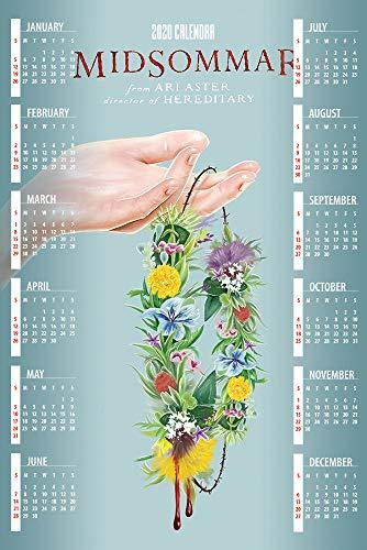 printdesign Midsommar - 2020 Calendar Movie Poster Wall Decor Cartel de Calendario - 43 X 63 cm
