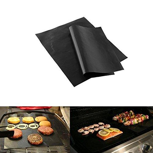 Toruiwa Tapis de Cuisson Grille Barbecue Anti-adhérent pour Barbecue et Four pour Barbecue à Gaz, Charbon et Electriques 33*40cm