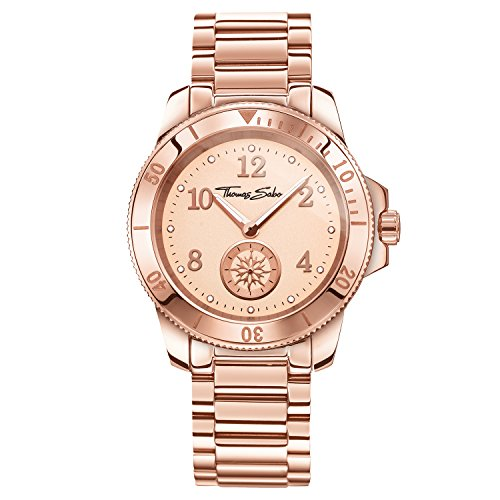 Thomas Sabo Damen-Armbanduhr Analog Quarz Edelstahl WA0206-265-208-40 mm