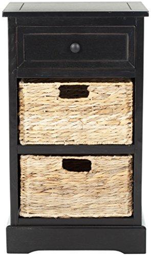 Safavieh EUH5700 Beistelltisch, Holz, Schwarz, 38 x 33 x 68.58 cm
