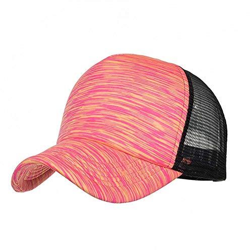 GZTCAP Gorras Rejilla Gorras De Béisbol Mujer Hombre Ajustable Rayas De Colores Sombrero De Béisbol Gorra De Malla