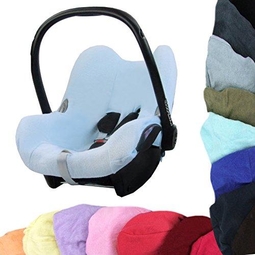 Babys-Dreams–Funda de verano universal de colchón de rizo para Maxi Cosi Cabriofix, 25 colores rojo azul claro