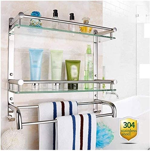 AXJTNL Max 68% OFF Bathroom Max 65% OFF Shelf Shower Tempered Glass Corner
