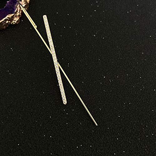 Hunpta - Pendientes de gancho para mujer, con diamantes de imitación y perlas de imitación