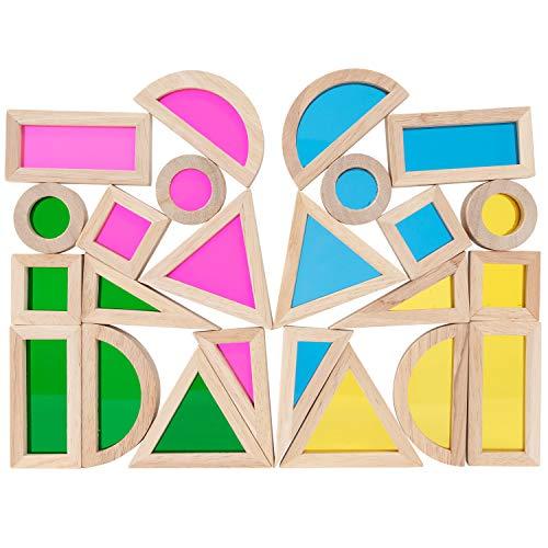 TickiT 73275 Conjunto de bloques de colores, 24 piezas, varios colores