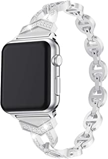 Bling Watch Band for Apple Watch Series 5 4 3 2 1 iWatch 38/40mm 42/44mm Luxury Diamond Wristband Replacement Bracelet Buckle