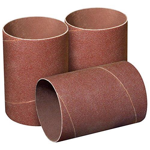 POWERTEC 11215 4.5 Inch Sanding Sleeves for Spindle Sander | 120 Grit | Aluminum Oxide Sandpaper Diameter 3 Inch – 3 Pack