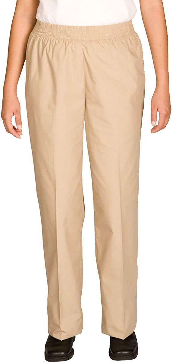 Edwards Garment Women's Elastic Waistband Two Side Pockets Pull on Pant