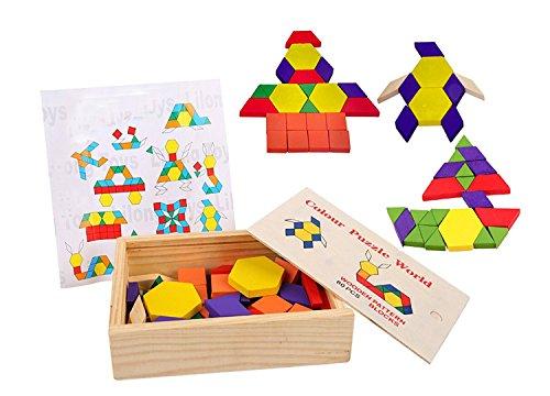 Lewo 60-Pieces Wooden Pattern...