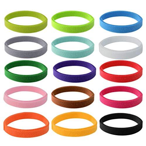CYWVYNYT 15 collares de identificación para cachorros, ajustables, suaves, para cachorros y gatitos, 15 colores