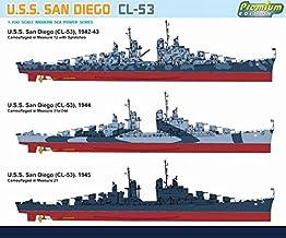 Dragon Models 1/700 U.S.S. San Diego (CL-53), Atlanta Class Cruiser Dragon Model Kits
