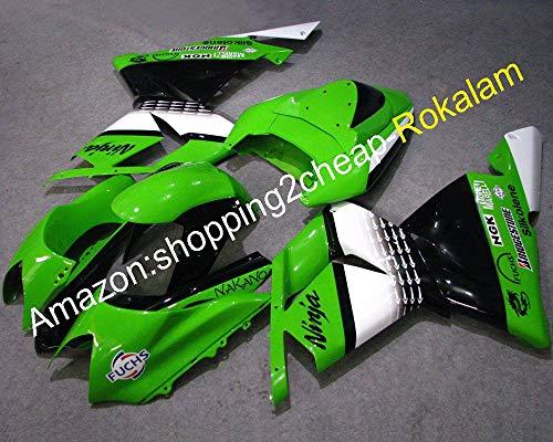 Moto Fit Per Kawasaki 2004 2005 ZX-10R ZX 10R ZX10R 04 05 Verde Nero Bianco ABS Carena (stampaggio ad iniezione)