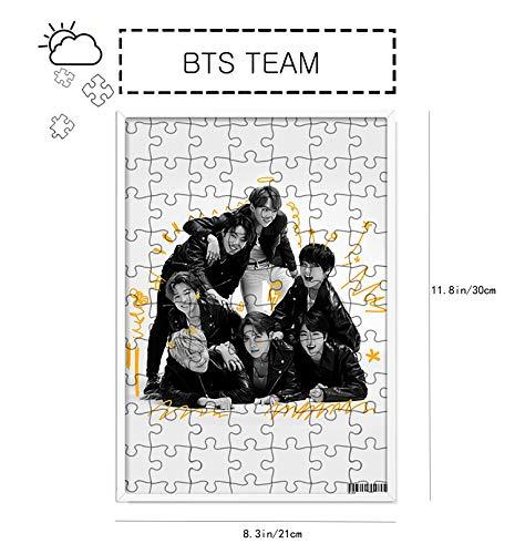 ACEFAST INC Kpop BTS Jigsaw Puzzles Map of The Soul 7 Jimin SUGA V Jungkook Photo Frame Decor Gift Souvenir
