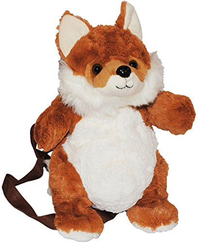 alles-meine.de GmbH Rucksack Fuchs - Plüsch Kinderrucksack / Plüschtier Tier Tiere - Kinder Kindergartenrucksack - Kindertasche / Mädchen & Jungen - Plüschtiere Füchse Tierrucksa