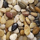Eurosand Flusskiesel KLEIN ca 8-25 mm 0,5 KG. Kleine Flußkiesel, Kieselsteine 500 Gramm GEMISCHT