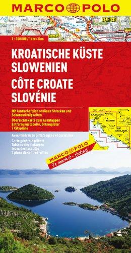 MARCO POLO Karte Kroatische Küste, Slowenien (MARCO POLO Karten 1:300.000)