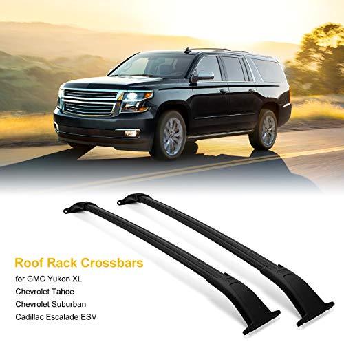 ALAVENTE Roof Rack Crossbars for GMC Yukon XL/Chevrolet Tahoe/Chevrolet Suburban/Cadillac Escalade ESV 2015-2020 w/Top Side Rail, Rooftop Luggage Cross Bars for Canoe Kayak Bike