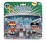 Pinypon Action - Pack de 2 Figuritas Policía Y Aventurero (Famosa 700014492) ,...