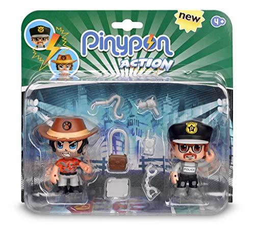 Pinypon Action - Pack de 2 Figuritas Policía Y Aventurero (Famosa 700014492) , color/modelo surtido