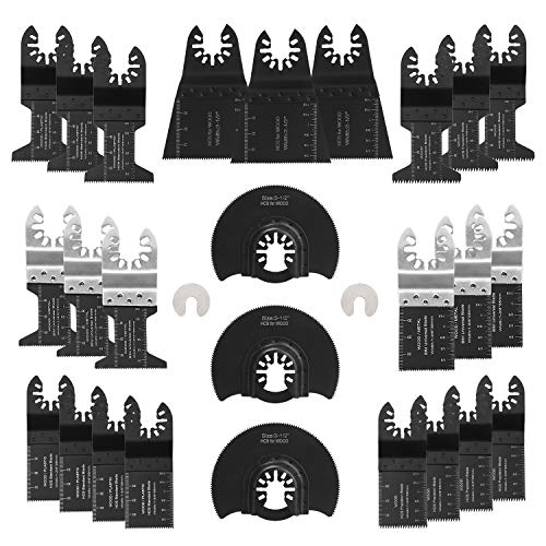 Best Deals! URLWALL 28PCS Oscillating Multitool Saw Blades Wood Melt Universal Blade Kit Quick Relea...