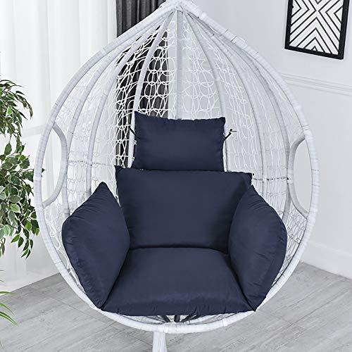 ZJZJ Confort Antidérapant Coussin,Balan?oire Seat Cushion Résistant,Intérieur Et Extérieur Terrasse Arrière-Cour Pelouse Bleu 68cm