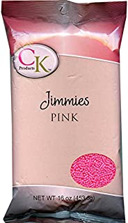CK Products 16 Ounce Jimmies/Sprinkles Bag, Pink