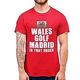 Purple Print House T-Shirt Camiseta, Rosso, XXL para Hombre