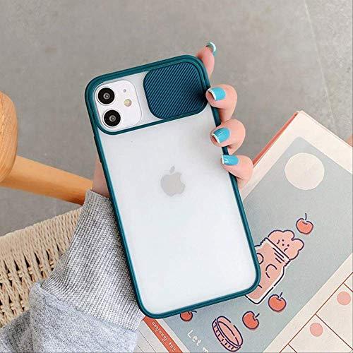 LIMITED Estuche para teléfono con protección para Lentes de cámara para iPhone 12 Mini 11 12 Pro MAX 8 7 6 6s Plus X XR XS MAX SE 2 Colores Caramelo Suave contraportada para iPhone 11 Verde Oscuro