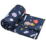 ROSMARUS 5lbs Kids Weighted Blanket   36×48inches   100% Cotton Toddler Heavy Throw Blanket Nontoxic Glass Beads   5lbs for a 40-70 lbs Child   Space Navy Blue