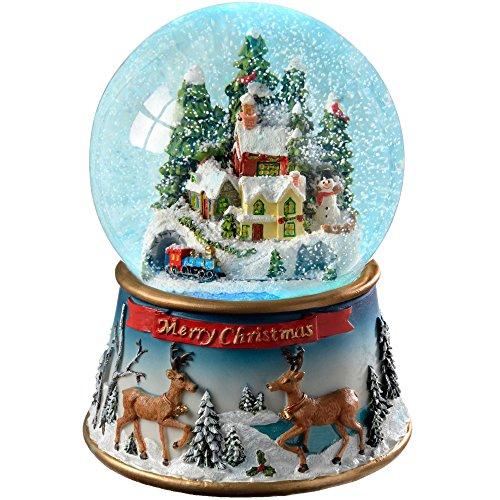 WeRChristmas Bola de Nieve, Cambia de Color, Escena navideña, 19,5 cm, Multicolor