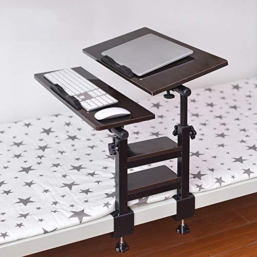 DNSJB - Mesita de noche plegable y ajustable para ordenador portátil, 360 °, rotación libre de acero al carbono, escritorio de estudio, escritorio para dormitorio (color: H)