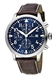 KRONOS - Pilot Automatic Chronograph Blue 991.65 - Reloj de Caballero automático, Correa de Piel marrón, Color Esfera: Azul