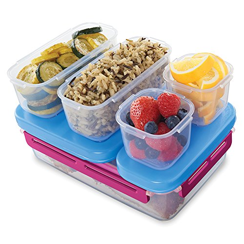Rubbermaid LunchBlox Leak-Proof Entree Lunch Container Kit Large Beet Red