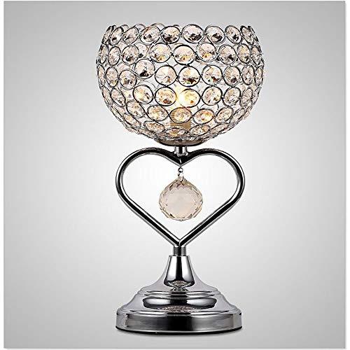 Lámpara Escritorio Lámpara moderna minimalista cristal lámpara mesa creativa americano dormitorio noche de noche creativo romántico escritorio lámpara de escritorio cromo herraje soldadura cristal lám