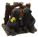 DeLeon Decorative Black Bears Kissing Napkin Holder - Rustic Cabin Art