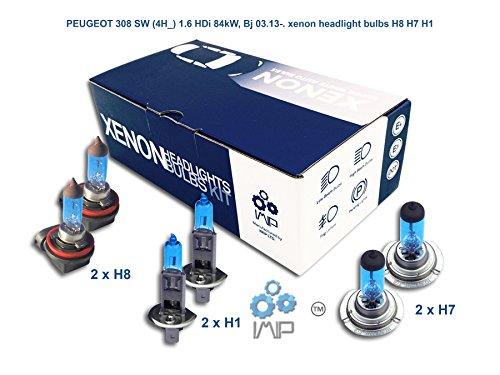 Ampoules de phares xénon lumineux  DIY, Kit simple d'utilisation   Compatible H8 H7 H1