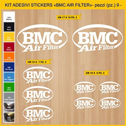 Adhésifs Stickers pegatina BMC AIR Filter - 09 PCS- Moto Motorcycle cod. 0769 (010 Bianco)