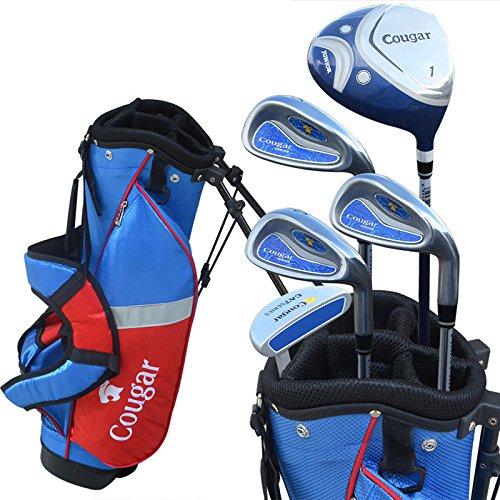 Jungen und Mädchen Golfschläger Komplettset mit Tasche Komplettset Golfschläger Komplettset für Kinder, Herren, rose, Größe S